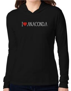 I love Anaconda cool style Hooded Long Sleeve T-Shirt Women
