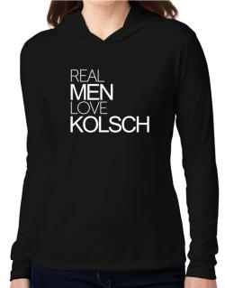Real men love Kolsch Hooded Long Sleeve T-Shirt Women