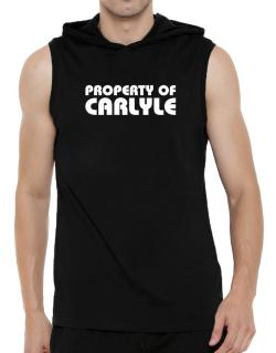 """ Property of Carlyle "" Hooded Sleeveless T-Shirt - Mens"