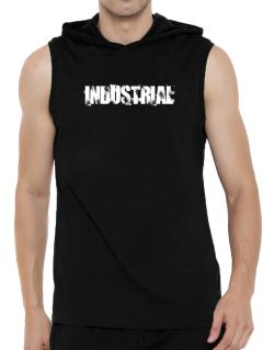 Industrial - Simple Hooded Sleeveless T-Shirt - Mens
