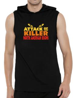 Attack Of The Killer North American Bisons Hooded Sleeveless T-Shirt - Mens