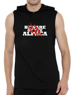 Beware Of The Alpaca Hooded Sleeveless T-Shirt - Mens