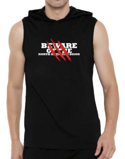 Beware Of The North American Bison Hooded Sleeveless T-Shirt - Mens