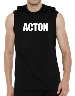Acton Hooded Sleeveless T-Shirt - Mens