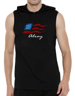 Alroy - Us Flag Hooded Sleeveless T-Shirt - Mens