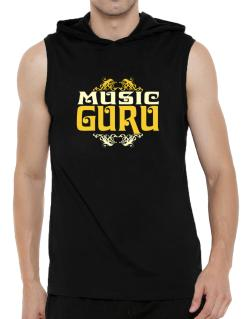 Music Guru Hooded Sleeveless T-Shirt - Mens