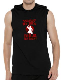Mechanical Engineer By Day, Ninja By Night Hooded Sleeveless T-Shirt - Mens