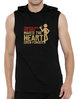 Chocolate Soldier Makes The Heart Grow Fonder Hooded Sleeveless T-Shirt - Mens