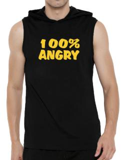 100% Angry Hooded Sleeveless T-Shirt - Mens