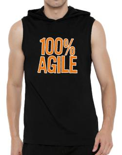 100% Agile Hooded Sleeveless T-Shirt - Mens