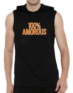100% Amorous Hooded Sleeveless T-Shirt - Mens