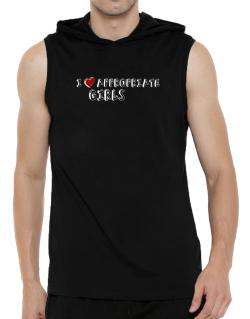 I Love Appropriate Girls Hooded Sleeveless T-Shirt - Mens