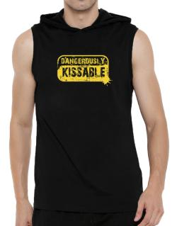 Dangerously Kissable Hooded Sleeveless T-Shirt - Mens