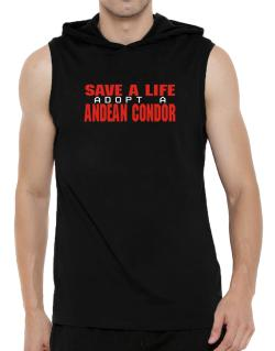 Save A Life, Adopt An Andean Condor Hooded Sleeveless T-Shirt - Mens