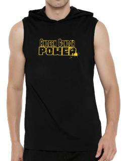 Andean Condor Power Hooded Sleeveless T-Shirt - Mens
