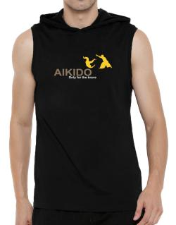 Aikido - Only For The Brave Hooded Sleeveless T-Shirt - Mens