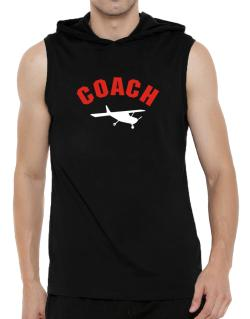 """ Aerobatics COACH "" Hooded Sleeveless T-Shirt - Mens"
