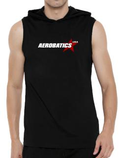 Aerobatics Usa Star Hooded Sleeveless T-Shirt - Mens