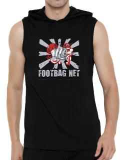 Footbag Net Fist Hooded Sleeveless T-Shirt - Mens