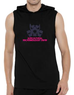 Agricultural Microbiologist Zone - Gas Mask Hooded Sleeveless T-Shirt - Mens