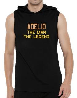 Adelio The Man The Legend Hooded Sleeveless T-Shirt - Mens