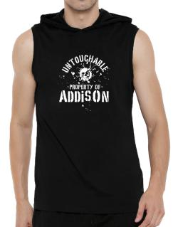 Untouchable : Property Of Addison Hooded Sleeveless T-Shirt - Mens