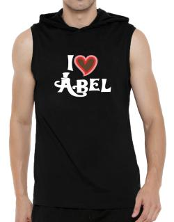 I Love Abel Hooded Sleeveless T-Shirt - Mens