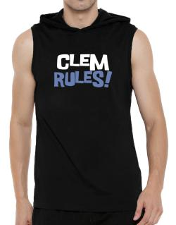 Clem Rules! Hooded Sleeveless T-Shirt - Mens