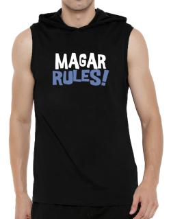 Magar Rules! Hooded Sleeveless T-Shirt - Mens