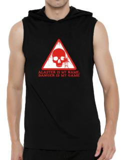 Alaster Is My Name, Danger Is My Game Hooded Sleeveless T-Shirt - Mens