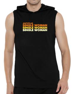 Apple Single Woman Hooded Sleeveless T-Shirt - Mens