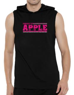 Property Of Apple - Vintage Hooded Sleeveless T-Shirt - Mens
