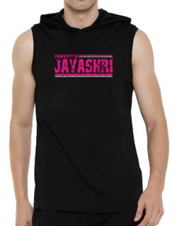Property Of Jayashri - Vintage Hooded Sleeveless T-Shirt - Mens