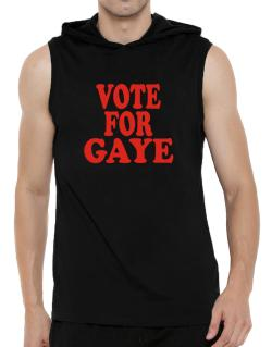 Vote For Gaye Hooded Sleeveless T-Shirt - Mens