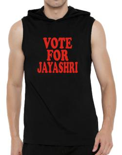 Vote For Jayashri Hooded Sleeveless T-Shirt - Mens