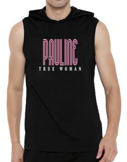 Pauline True Woman Hooded Sleeveless T-Shirt - Mens