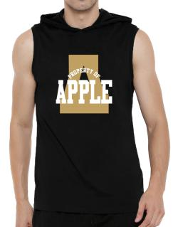 Property Of Apple Hooded Sleeveless T-Shirt - Mens