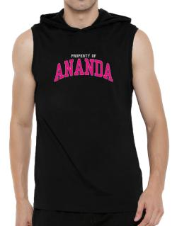 Property Of Ananda Hooded Sleeveless T-Shirt - Mens