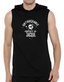 Untouchable Property Of Jacqui - Skull Hooded Sleeveless T-Shirt - Mens
