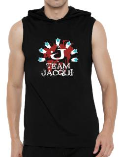 Team Jacqui - Initial Hooded Sleeveless T-Shirt - Mens