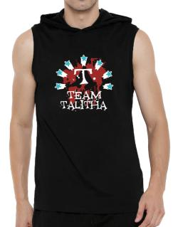 Team Talitha - Initial Hooded Sleeveless T-Shirt - Mens