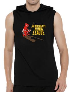 Oenologist Ninja League Hooded Sleeveless T-Shirt - Mens