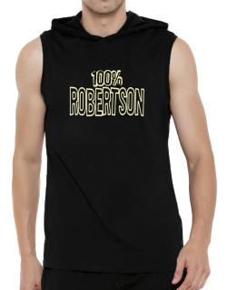 100% Robertson Hooded Sleeveless T-Shirt - Mens