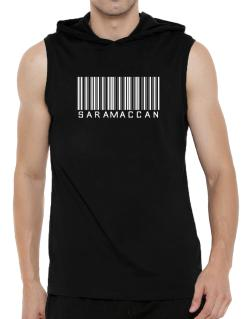 Saramaccan Barcode Hooded Sleeveless T-Shirt - Mens
