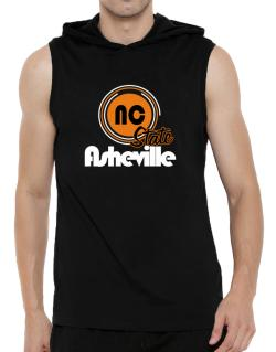 Asheville - State Hooded Sleeveless T-Shirt - Mens