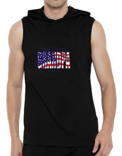 Grandpa Asheville - Us Flag Hooded Sleeveless T-Shirt - Mens