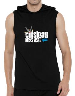 Chisinau Kicks Ass Hooded Sleeveless T-Shirt - Mens