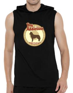 Dog Addiction : Siberian Husky Hooded Sleeveless T-Shirt - Mens