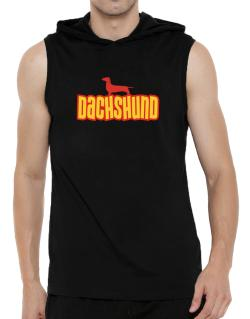 Breed Color Dachshund Hooded Sleeveless T-Shirt - Mens