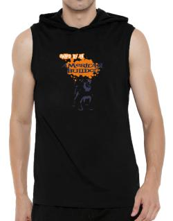 Owned By An American Bulldog Hooded Sleeveless T-Shirt - Mens